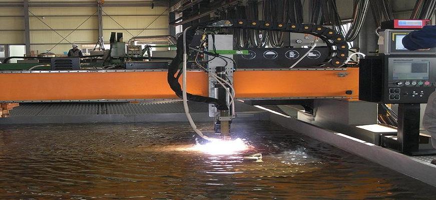 Unterwasser Plasma schneiden